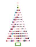 Ασυμμετρικό χριστουγεννιάτικο δέντρο Στοκ Εικόνα