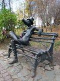 Ασυνήθιστα μνημεία στο κέντρο Izhevsk στοκ φωτογραφία με δικαίωμα ελεύθερης χρήσης
