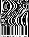 Ασυνήθιστη αφηρημένη ετικέτα κώδικα φραγμών Στοκ Εικόνες