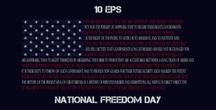 Ασυνήθιστη διανυσματική αμερικανική σημαία Στοκ Φωτογραφία