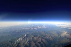 Ασυνήθιστη εναέρια άποψη του εδάφους και του ουρανού. Στοκ εικόνες με δικαίωμα ελεύθερης χρήσης