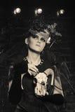 Ασυνήθιστη μάγισσα αποκριές Στοκ Φωτογραφίες
