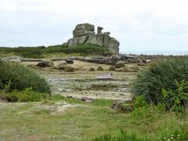 Ασυνήθιστος σχηματισμός βράχου στην παραλία στοκ φωτογραφία