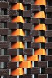 Ασυνήθιστος τοίχος στο πορτοκάλι και καφετής στοκ φωτογραφίες με δικαίωμα ελεύθερης χρήσης