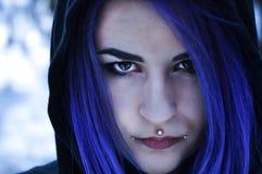 Ασυνήθιστο κορίτσι πορτρέτου Στοκ Εικόνες