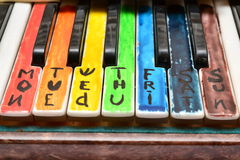 Ασυνήθιστο μυστήριο πιάνο πλήκτρων Στοκ Εικόνες