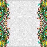 Ασυνήθιστο floral διακοσμητικό πρότυπο με τη θέση για Στοκ Φωτογραφίες
