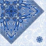 Ασυνήθιστο floral διακοσμητικό πρότυπο με τη θέση για Στοκ εικόνα με δικαίωμα ελεύθερης χρήσης