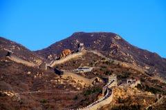 ασυννέφιαστος το mutianyu Σινικών Τειχών στοκ φωτογραφίες
