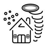 Ασφάλεια για το σπίτι του διανυσματικού εικονιδίου ανεμοστροβίλου ελεύθερη απεικόνιση δικαιώματος