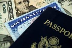 ασφάλεια διαβατηρίων κοινωνική Στοκ Εικόνα