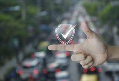 Ασφάλεια Διαδικτύου τεχνολογίας cyber και αντι έννοια ιών στοκ φωτογραφία