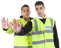 ασφάλεια δύο φρουρών Στοκ φωτογραφία με δικαίωμα ελεύθερης χρήσης