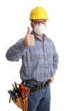 ασφάλεια κατασκευής thumbsup Στοκ Φωτογραφίες