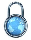 ασφάλεια κλειδωμάτων Διαδικτύου Στοκ Εικόνες