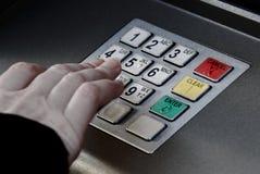 Ασφάλεια κουμπιών καρφιτσών μηχανών του ATM Στοκ φωτογραφίες με δικαίωμα ελεύθερης χρήσης