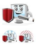 ασφάλεια μασκότ υπολογ& Στοκ Εικόνες
