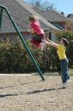 ασφάλεια παιδικών χαρών Στοκ φωτογραφίες με δικαίωμα ελεύθερης χρήσης