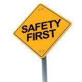 Ασφάλεια πρώτα Στοκ Εικόνες