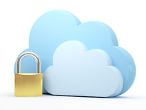 ασφάλεια υπολογισμού σύννεφων Στοκ Εικόνες