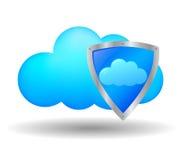 Ασφάλεια υπολογισμού σύννεφων ελεύθερη απεικόνιση δικαιώματος