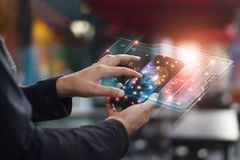 Ασφάλεια Cyber Έννοια προστασίας δεδομένων Τραπεζική ασφάλεια στοκ φωτογραφία