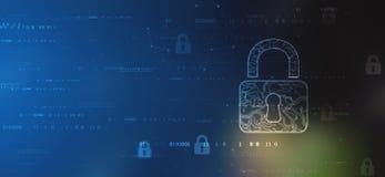 Ασφάλεια Cyber και πληροφορίες ή προστασία δικτύων Μελλοντική τεχνολογία cyber απεικόνιση αποθεμάτων