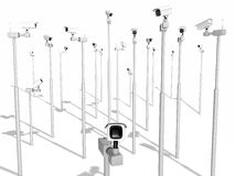 ασφάλεια αφθονίας φωτογραφικών μηχανών copyspace Στοκ εικόνα με δικαίωμα ελεύθερης χρήσης