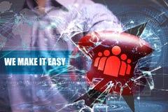 Ασφάλεια επιχειρήσεων, τεχνολογίας, Διαδικτύου και δικτύων το κάνουμε Στοκ φωτογραφία με δικαίωμα ελεύθερης χρήσης