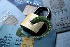 Ασφάλεια δεδομένων πιστωτικών καρτών Στοκ φωτογραφία με δικαίωμα ελεύθερης χρήσης