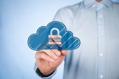 Ασφάλεια δεδομένων σύννεφων Στοκ εικόνα με δικαίωμα ελεύθερης χρήσης