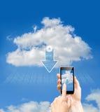 Ασφάλεια δεδομένων σύννεφων Στοκ Εικόνες