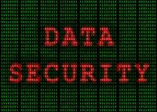 Ασφάλεια δεδομένων δυαδικοί πράσινος και κόκκινος Στοκ εικόνα με δικαίωμα ελεύθερης χρήσης