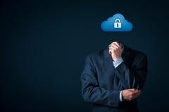 Ασφάλεια δεδομένων υπολογισμού σύννεφων Στοκ εικόνα με δικαίωμα ελεύθερης χρήσης