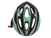 Ασφάλεια κρανών αθλητικών πράσινη ποδηλάτων για την απομόνωση ποδηλατών Στοκ Εικόνα