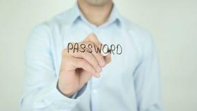 Ασφάλεια κωδικού πρόσβασης, που γράφει στην οθόνη απόθεμα βίντεο