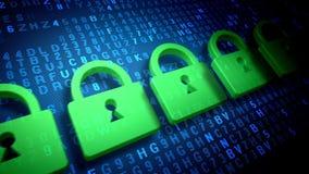 ασφάλεια λουκέτων γραμματοθηκών στοιχείων έννοιας υπολογιστών αλυσίδων ελεύθερη απεικόνιση δικαιώματος