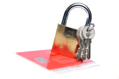 Ασφάλεια πιστωτικών καρτών Στοκ Φωτογραφία