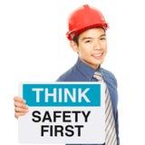 Ασφάλεια πρώτα Στοκ Φωτογραφίες