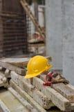 Ασφάλεια στο εργοτάξιο οικοδομής Στοκ εικόνες με δικαίωμα ελεύθερης χρήσης
