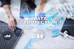 Ασφάλεια Cyber, προστασία δεδομένων, ασφάλεια πληροφοριών Έννοια τεχνολογίας Διαδικτύου Στοκ Εικόνες