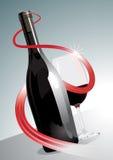 Ασφάλιστρο ή ανώτερο κόκκινο κρασί απεικόνιση αποθεμάτων