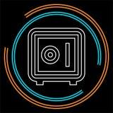 Ασφαλές εικονίδιο κιβωτίων - διανυσματική απεικόνιση ασφάλειας ελεύθερη απεικόνιση δικαιώματος