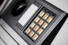 Ασφαλές κιβώτιο αριθμητικών πληκτρολογίων Στοκ φωτογραφίες με δικαίωμα ελεύθερης χρήσης