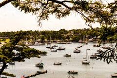 Ασφαλές λιμάνι βορειοανατολικών λιμανιών στο νησί ερήμων ΑΜ, Μαίην στοκ εικόνα με δικαίωμα ελεύθερης χρήσης