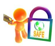 ασφαλές σύμβολο αγορών &epsilo Στοκ φωτογραφίες με δικαίωμα ελεύθερης χρήσης