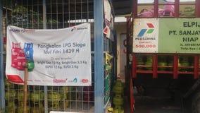 Ασφαλής ανεφοδιασμός για τα LPG 3 κλ στοκ εικόνα με δικαίωμα ελεύθερης χρήσης