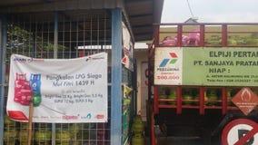 Ασφαλής ανεφοδιασμός για τα LPG 3 κλ στοκ φωτογραφία με δικαίωμα ελεύθερης χρήσης