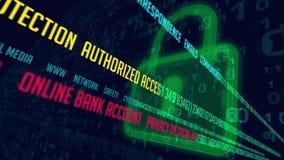 Ασφαλής πύλη Διαδικτύου διανυσματική απεικόνιση