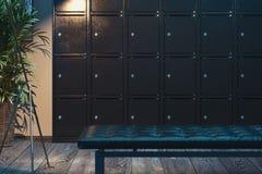 Ασφαλή κιβώτια κατάθεσης με το αναμμένο φως Ντουλάπια ασφάλειας r στοκ φωτογραφίες